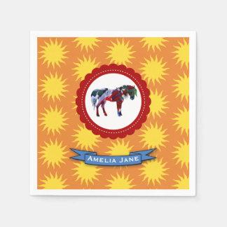 Pony and Sun Napkin