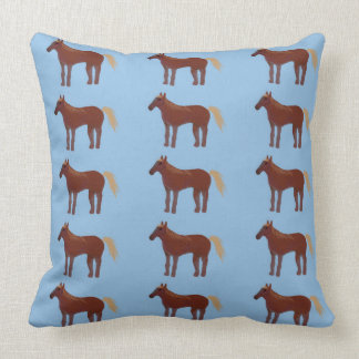 Pony Bliss Throw Pillow