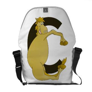 pony C monogram Messenger Bags