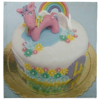 Pony cake 1 napkin