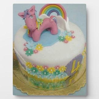 Pony cake 1 plaque