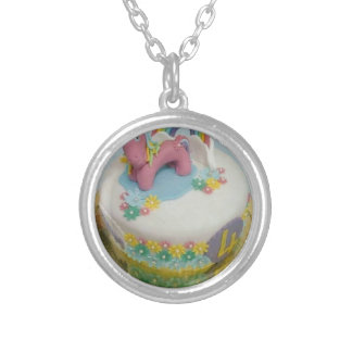 Pony cake 1 silver plated necklace