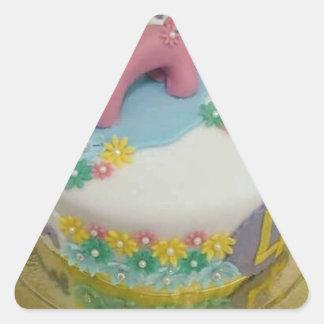 Pony cake 1 triangle sticker