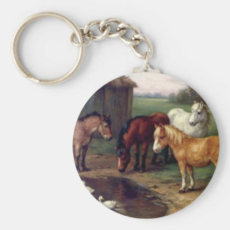 Pony donkey ducks farm keychain