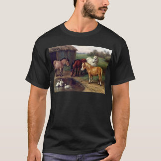 Pony donkey ducks farm T-Shirt