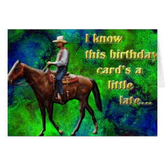 Pony Express belated birthday card
