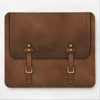 Pony Express leather Mouse Pad