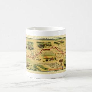 Pony Express Map by William Henry Jackson 1861 Coffee Mug