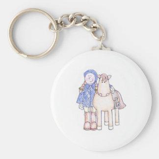 Pony Girl Keychain