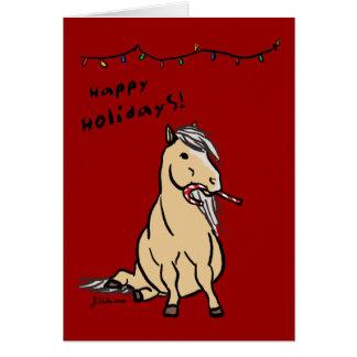 Pony Holiday Christmas Greeting Card