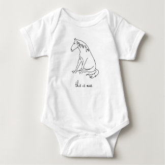 Pony Lines - This is Nice. Ones-ie Baby Bodysuit