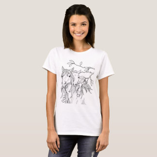 Pony Mare and Foal Playing original horse art shir T-Shirt