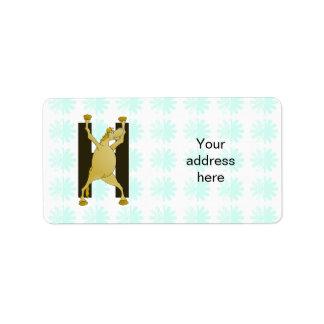 Pony Monogram Letter H Personalized