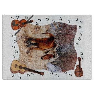 Pony Music cutting board