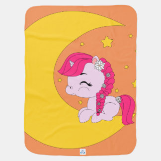 Pony on the moon - Baby blanket