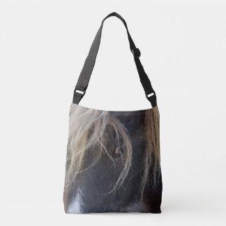 Pony Peeking Through Its Hair Crossbody Bag