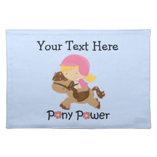 Pony Power Customizable Placemat