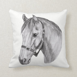 Pony Profile Throw Pillow