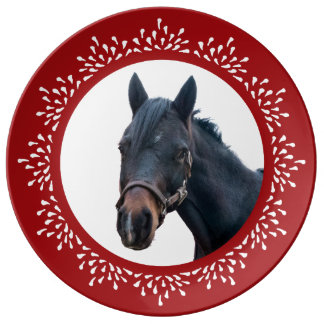 Pony Teardrop Holiday Plate Porcelain Plate
