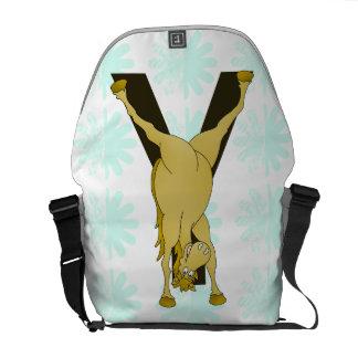 Pony Y Personalized Monogram Messenger Bags