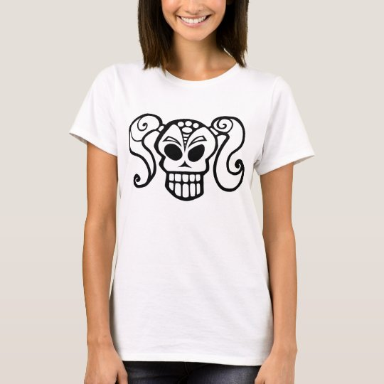 Ponytail Skull Girl T-Shirt