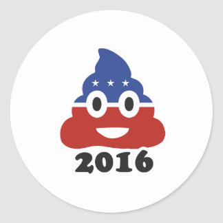 Poo 2016 - -  round sticker