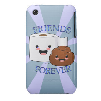 Poo and Toilet Paper BFFS iPhone 3 Cases