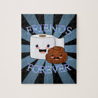 Poo and Toilet Paper Friends Forever Jigsaw Puzzle