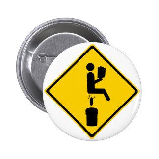 Poo in Bucket 2 Inch Round Button