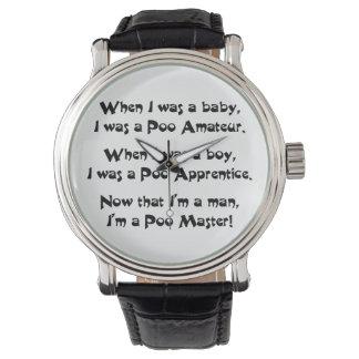 Poo Master Wrist Watch