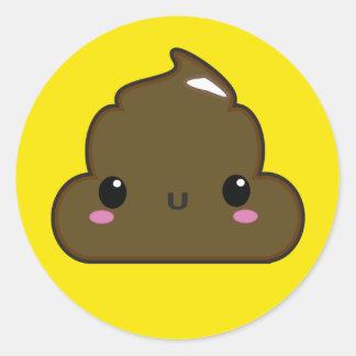 Poo Sticker! Round Sticker