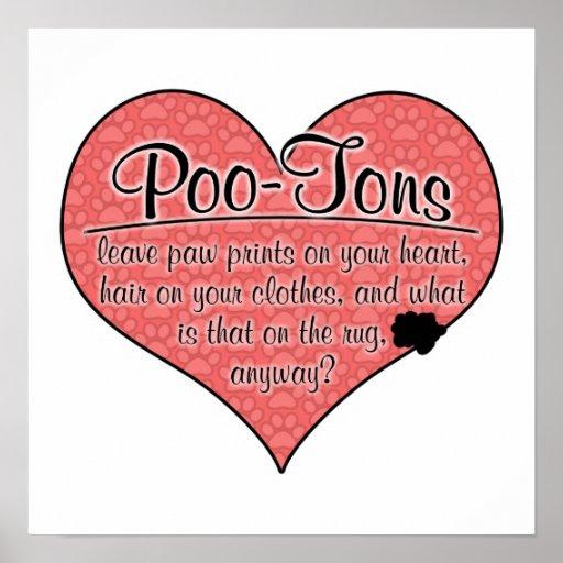 Poo-Ton Paw Prints Dog Humor Posters