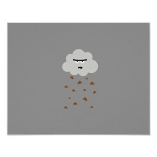 poo weather poster