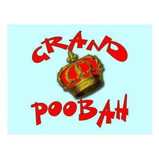 Poobah grand avec des produits de couronne carte postale