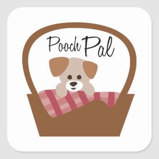 Pooch Pal Square Stickers