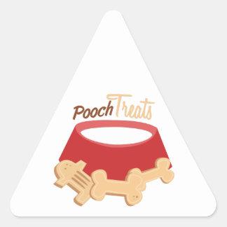Pooch Treats Triangle Stickers