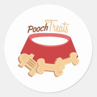 Pooch Treats Round Stickers