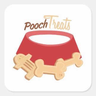 Pooch Treats Square Sticker