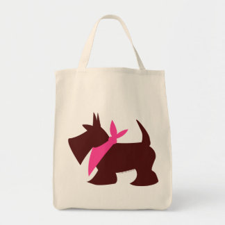 Pooches in Pink Canvas Bag