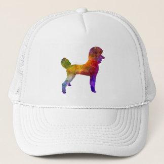 Poodle 01 in watercolor trucker hat