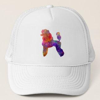 Poodle 02 in watercolor trucker hat
