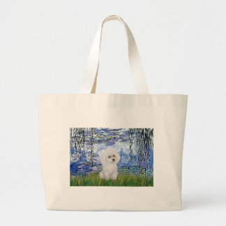 Poodle (11W) - Lilies 6 Large Tote Bag