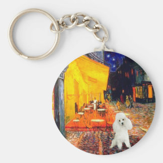 Poodle (14W) - Terrace Cafe Basic Round Button Keychain