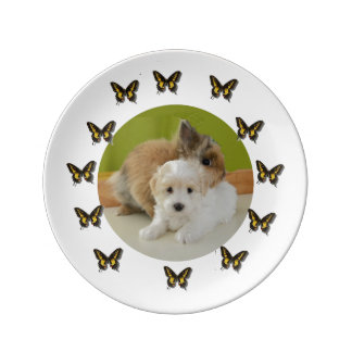 Poodle and Bunny Plate