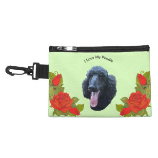 Poodle and Red Roses Accessories Bags