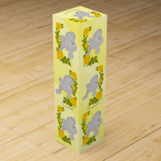 Poodle and Yellow Roses Wine Gift Box