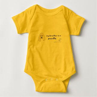 poodle baby bodysuit