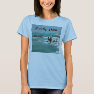 Poodle Beach Mom T-Shirt