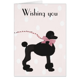 Paris poodle birthday cards photocards invitations more poodle birthday card bookmarktalkfo Gallery