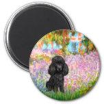 Poodle (black 1) - Garden 2 Inch Round Magnet